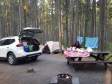 Unser Campground auf dem Two Jack Main Campground