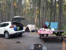 Unser Campground auf dem Two Jack Main Campground