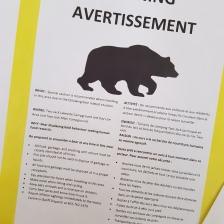 Bärenwarnung - ja, auch für unseren Campground