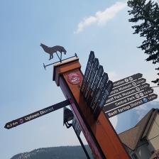 Unterwegs im Städtchen Banff