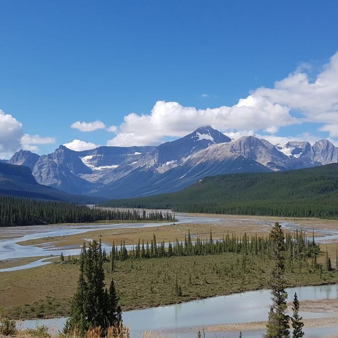 Panorama auf dem Glacier Lake Trail