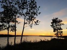 Sonnenuntergang am Mackenzie River